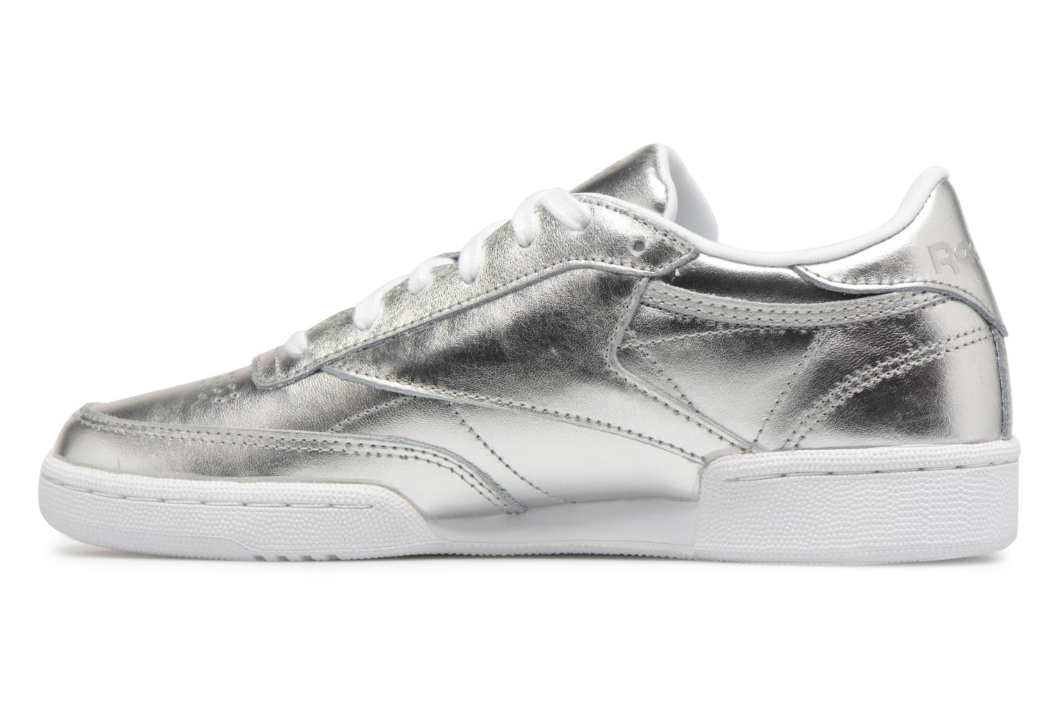 Baskets Reebok Club C 85 S Shine Argent vue face