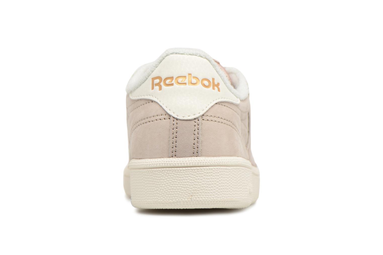 Baskets Reebok Club C 85 Vtg Beige vue droite