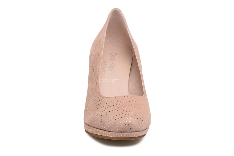 Escarpins Dorking Azahara 7118 Rose vue portées chaussures