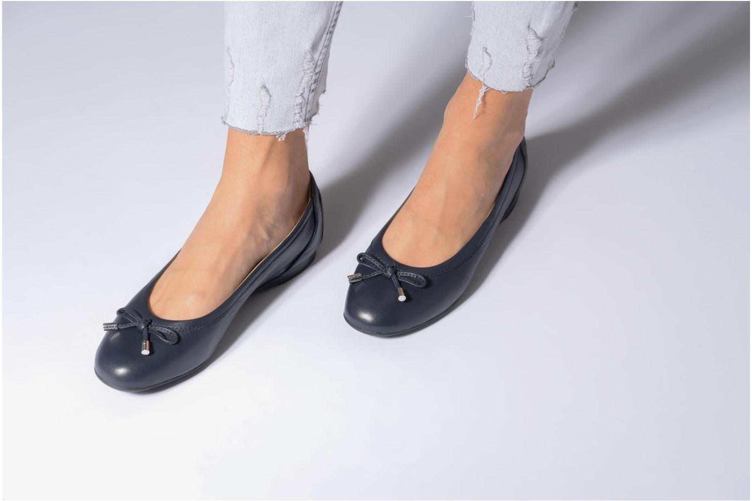 Ballet pumps Geox D LAMULAY D D825DD Blue view from underneath / model view