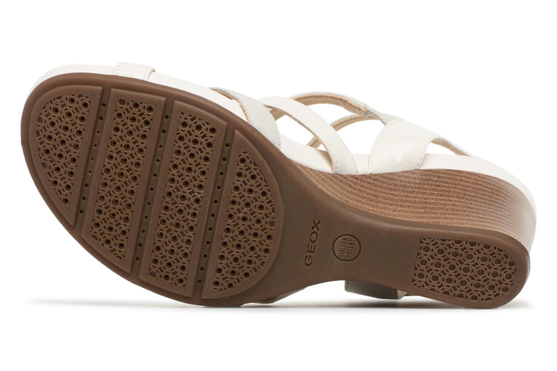 Sandales et nu-pieds Geox D DOROTHA C D828TC Blanc vue haut