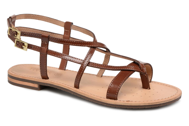 Geox D SOZY C D822CC (Marron) - Sandales et nu-pieds chez Sarenza (316397)