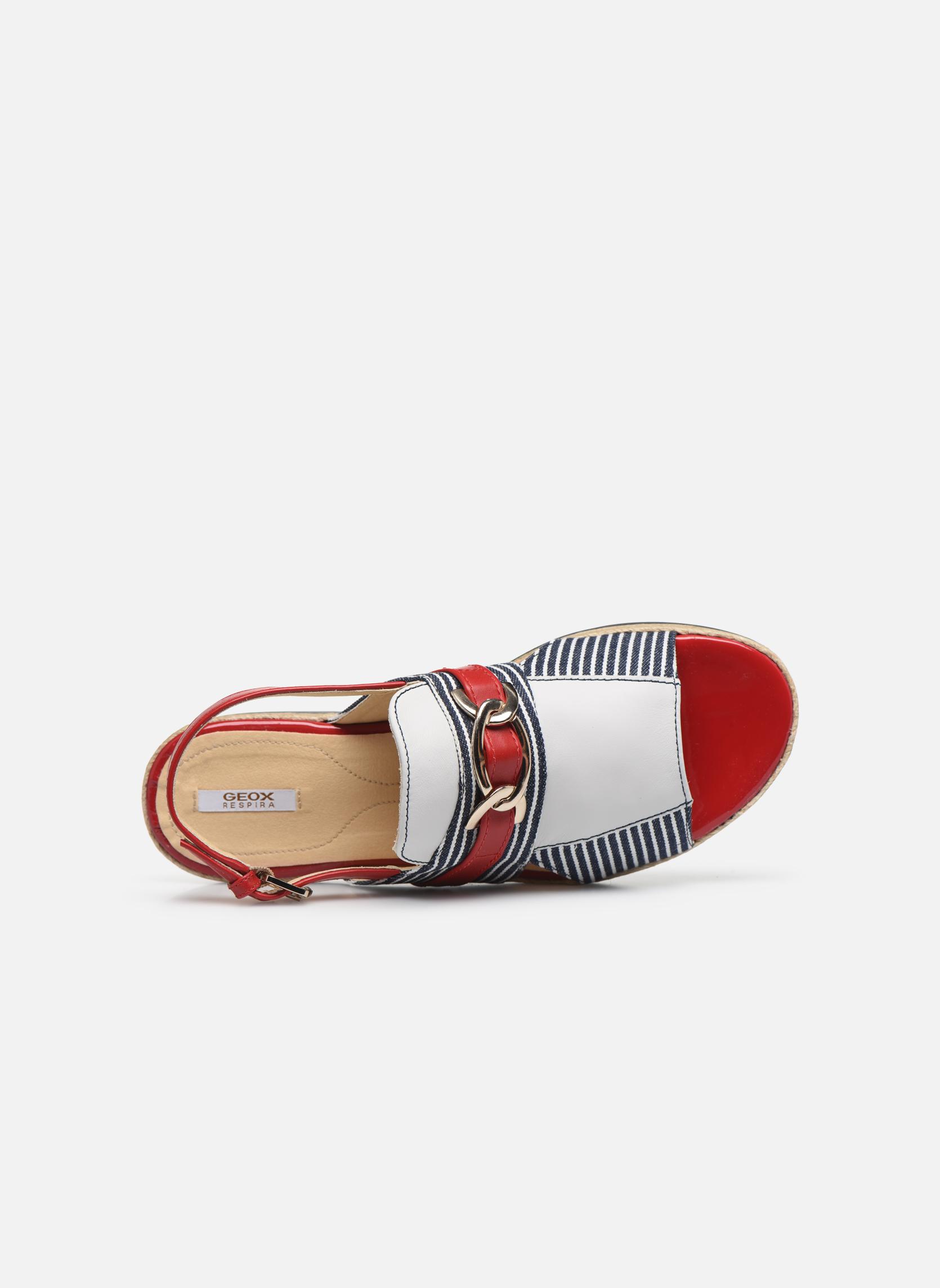 Sandales et nu-pieds Geox D KOLLEEN E D825SE Blanc vue gauche