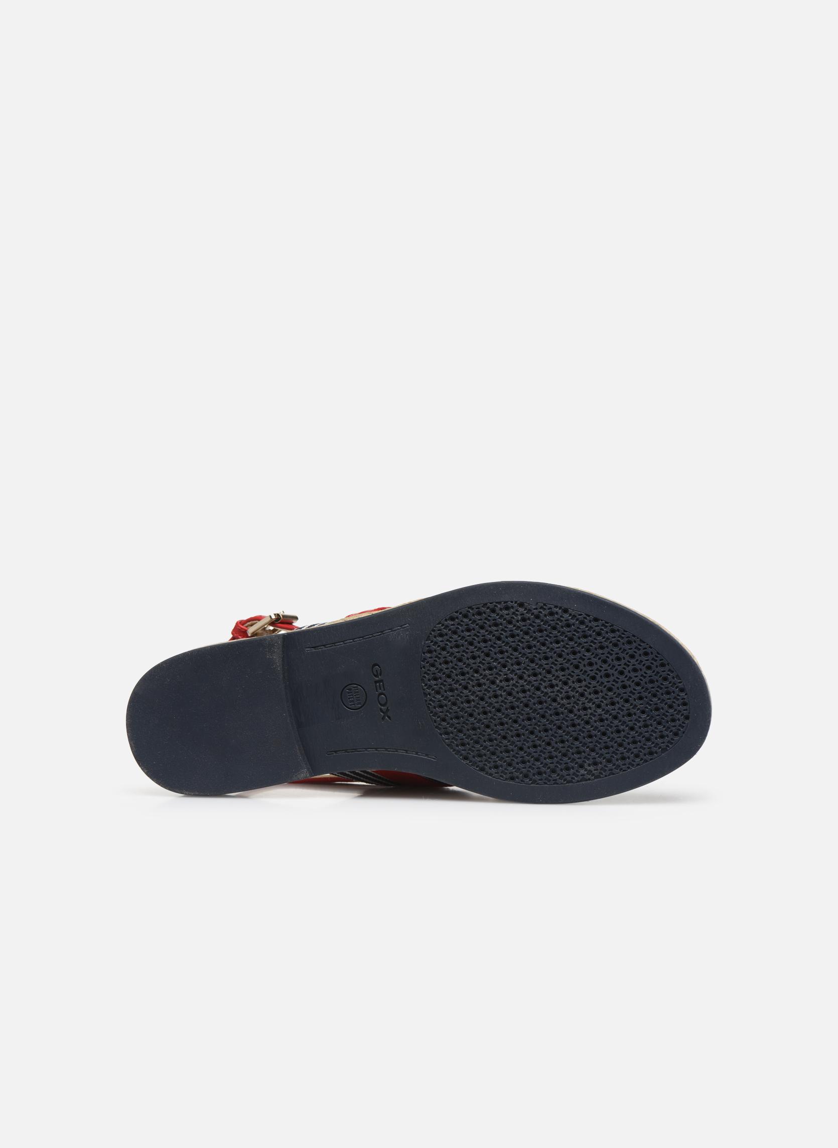 Sandales et nu-pieds Geox D KOLLEEN E D825SE Blanc vue haut