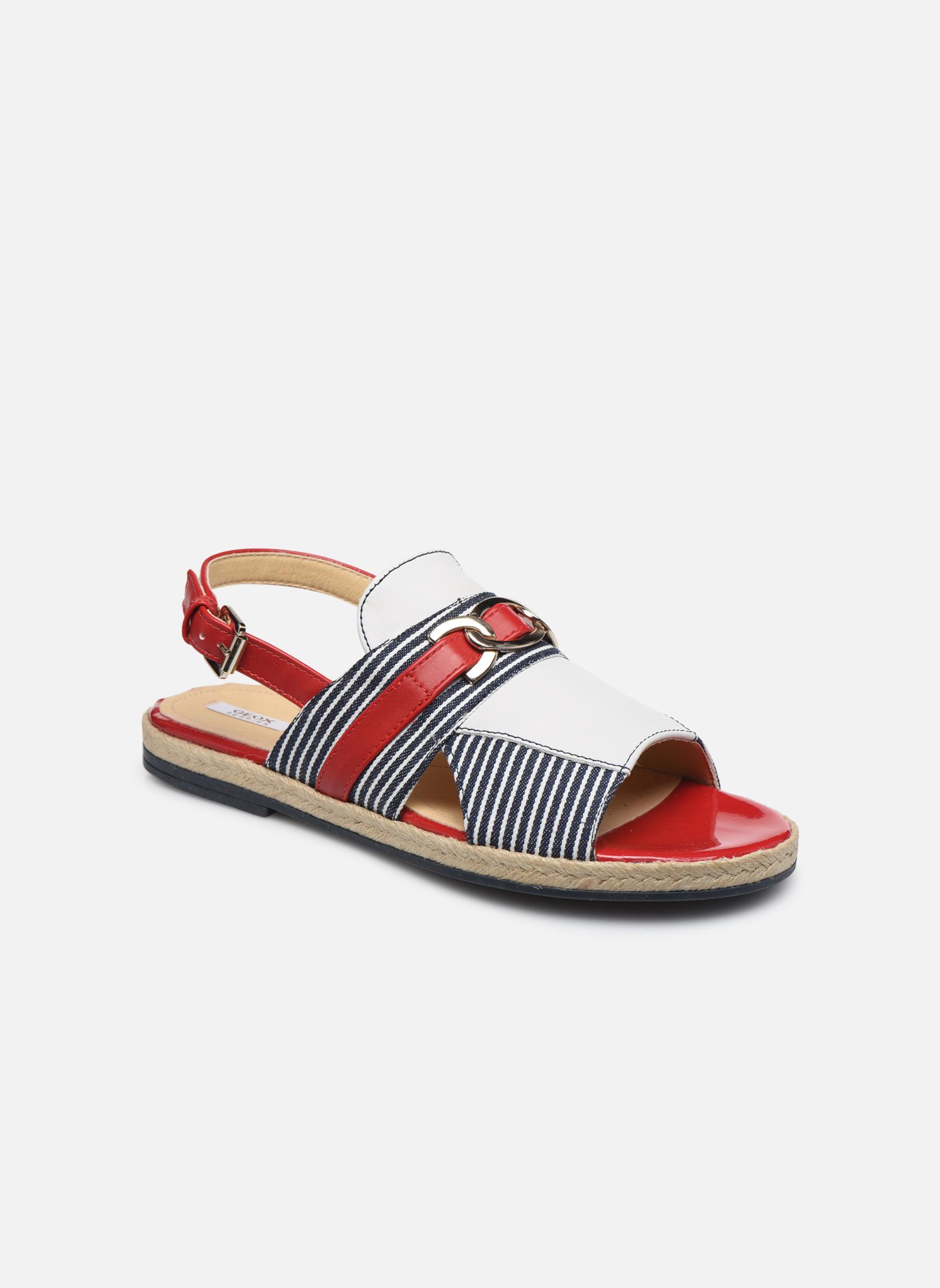 Sandales et nu-pieds Geox D KOLLEEN E D825SE Blanc vue détail/paire