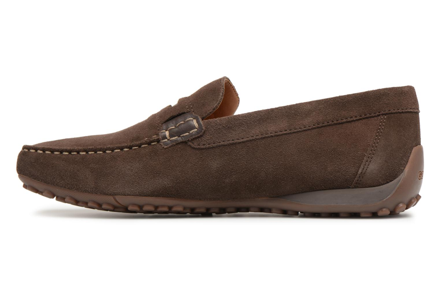 Loafers Geox U SNAKE MOC A U8207A Brown front view