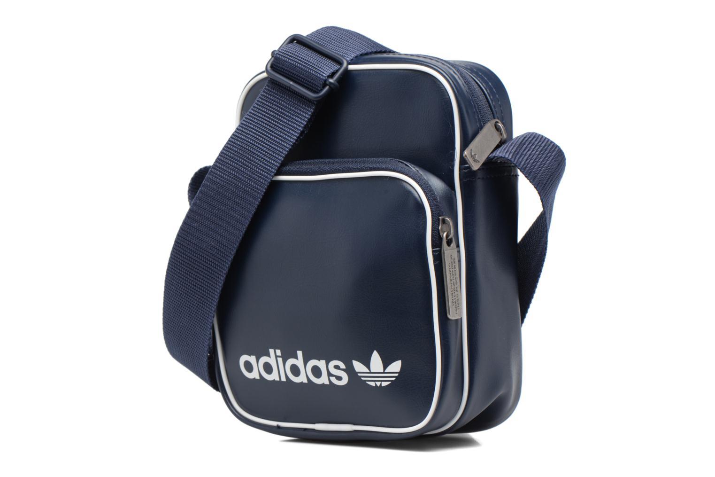 Sacs homme Adidas Originals Mini Bag Vint Bleu vue portées chaussures