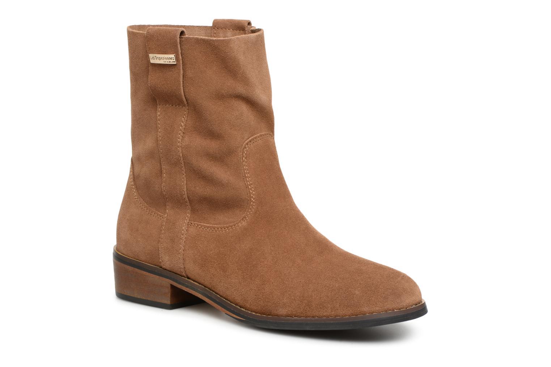 Bottines et boots Les Tropéziennes par M Belarbi Curcuma Marron vue détail/paire