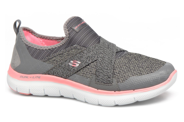 Zapatos promocionales Skechers Flex Appeal 2.0-New Image (Gris) - Deportivas   Cómodo y bien parecido