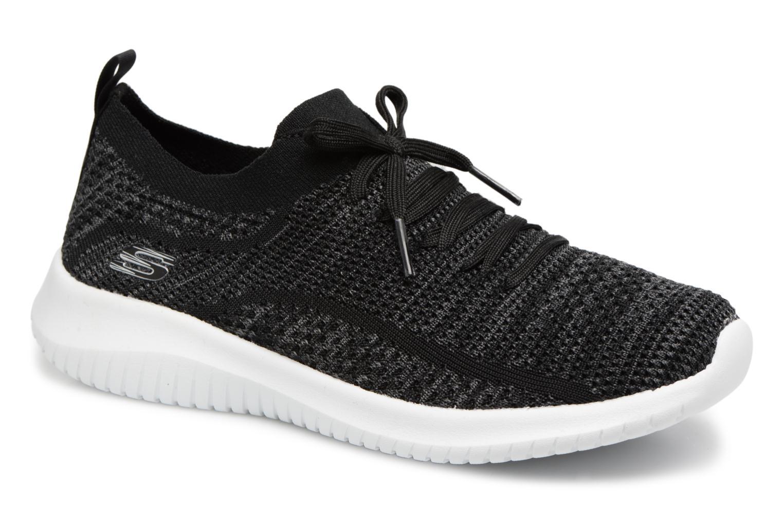 Skechers Ultra Flex-Statements, Zapatillas Para Mujer, Negro (Black/Grey), 39 EU