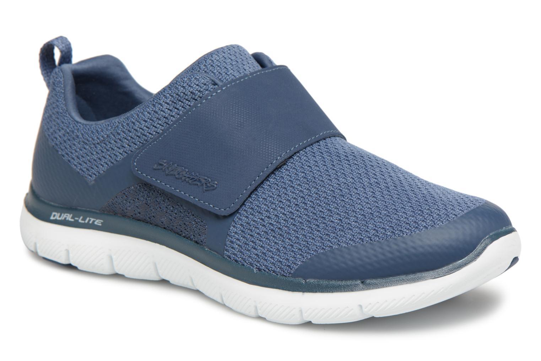 Skechers Flex Appeal 2.0- Step forward (Bleu) - Baskets chez Sarenza (317314)