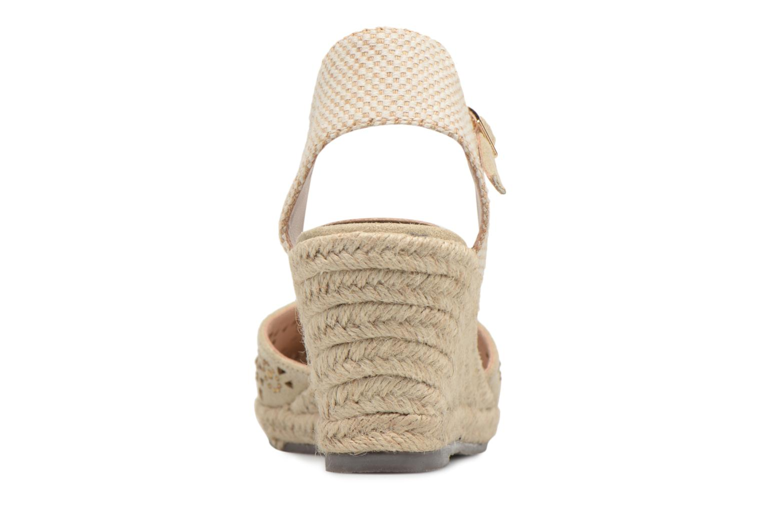 Espadrilles Xti Ossie Bronze and Gold view from the right