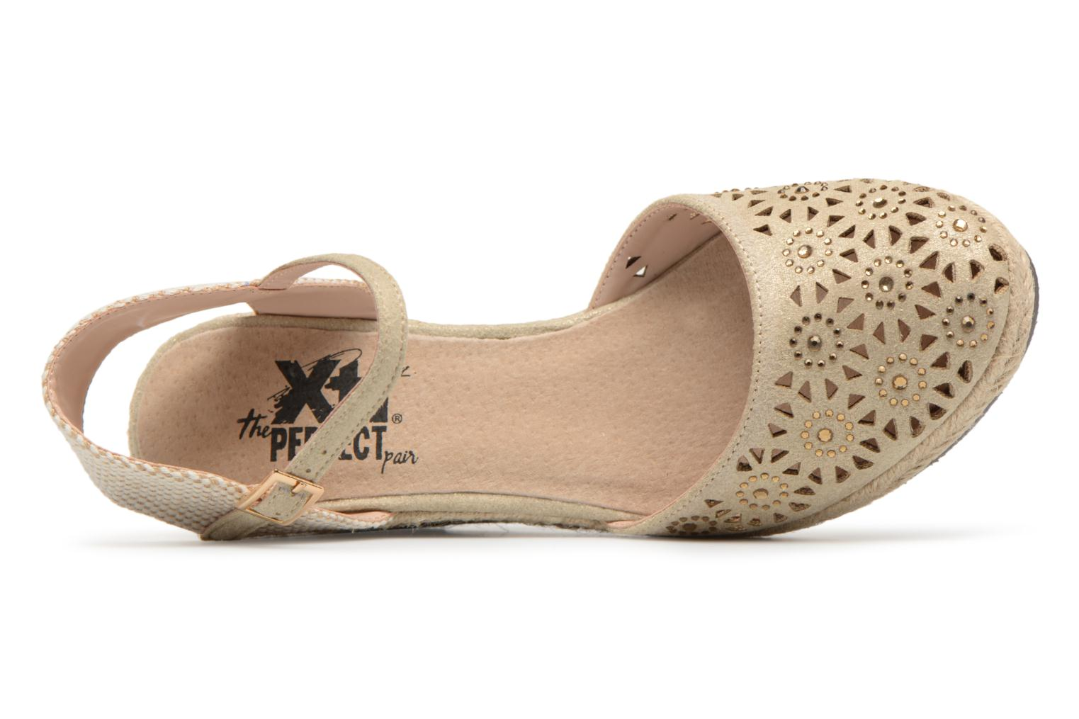 Espadrilles Xti Ossie Bronze and Gold view from the left