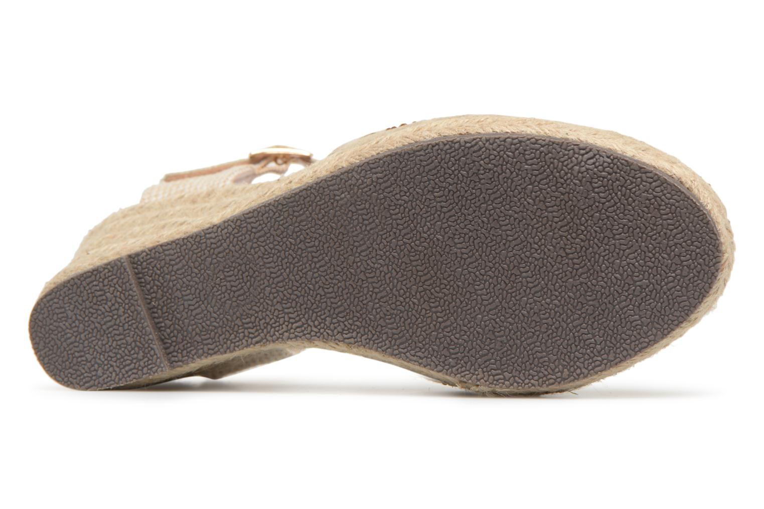 Espadrilles Xti Ossie Bronze and Gold view from above
