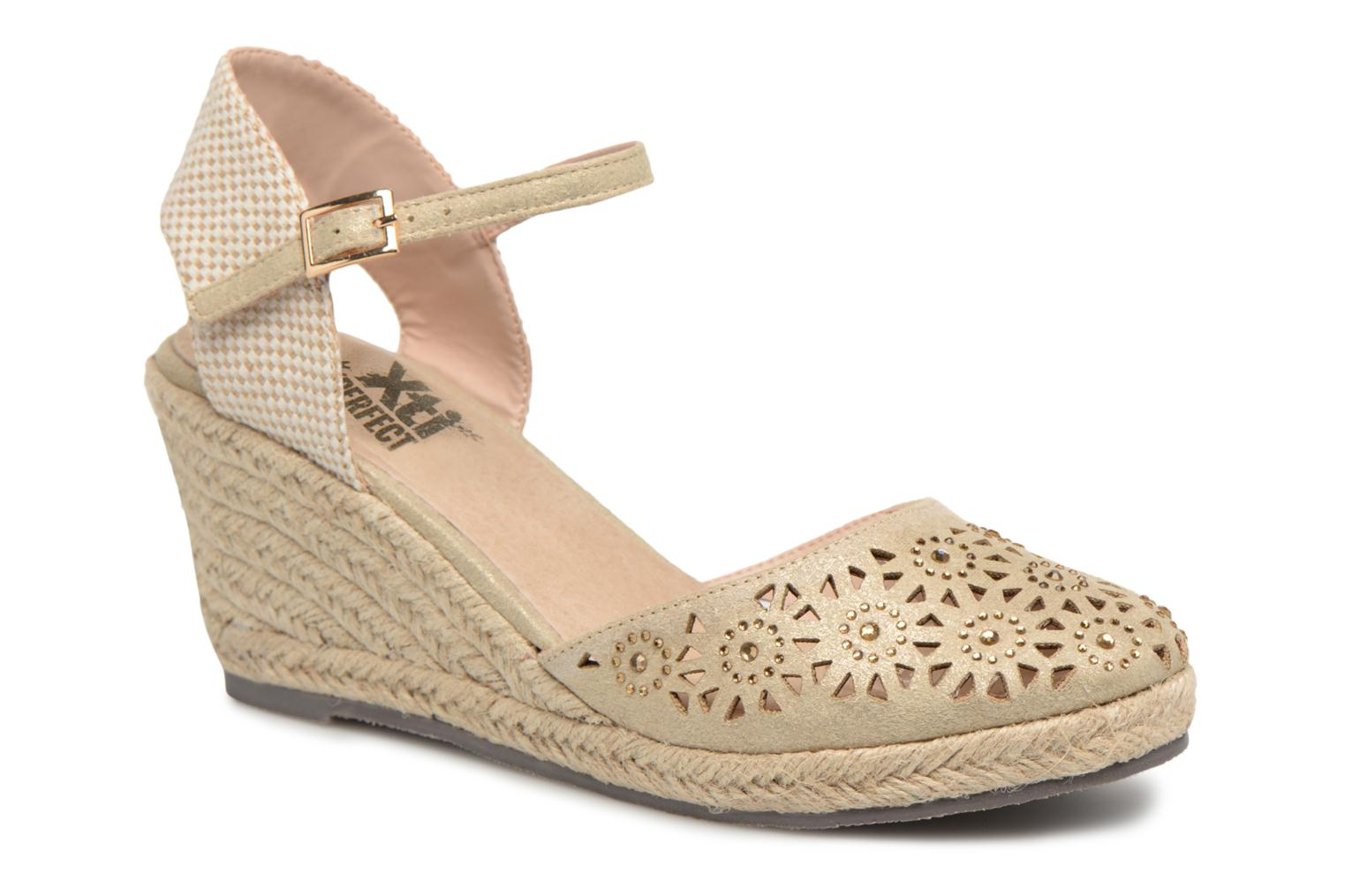 Espadrilles Xti Ossie Bronze and Gold detailed view/ Pair view