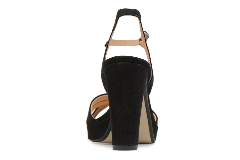 Sandales et nu-pieds Georgia Rose Lypatou Noir vue droite