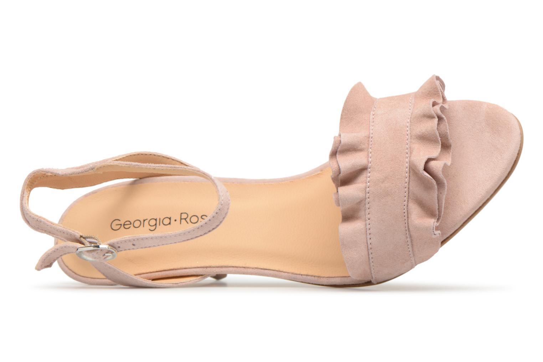 Sandales et nu-pieds Georgia Rose Lyvolan Rose vue gauche