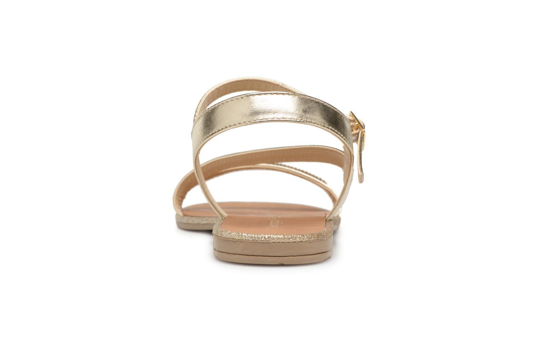 Sandales et nu-pieds Georgia Rose Mistrass Or et bronze vue droite