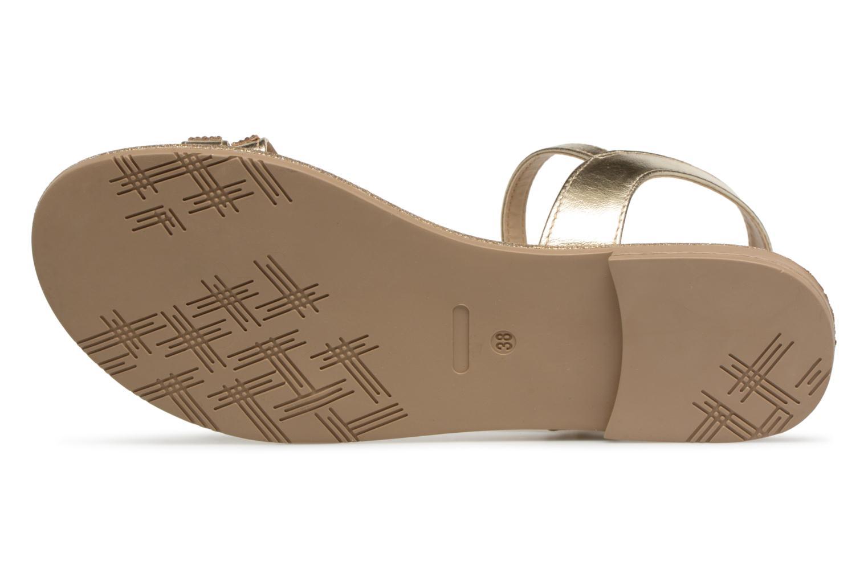 Sandales et nu-pieds Georgia Rose Mistrass Or et bronze vue haut