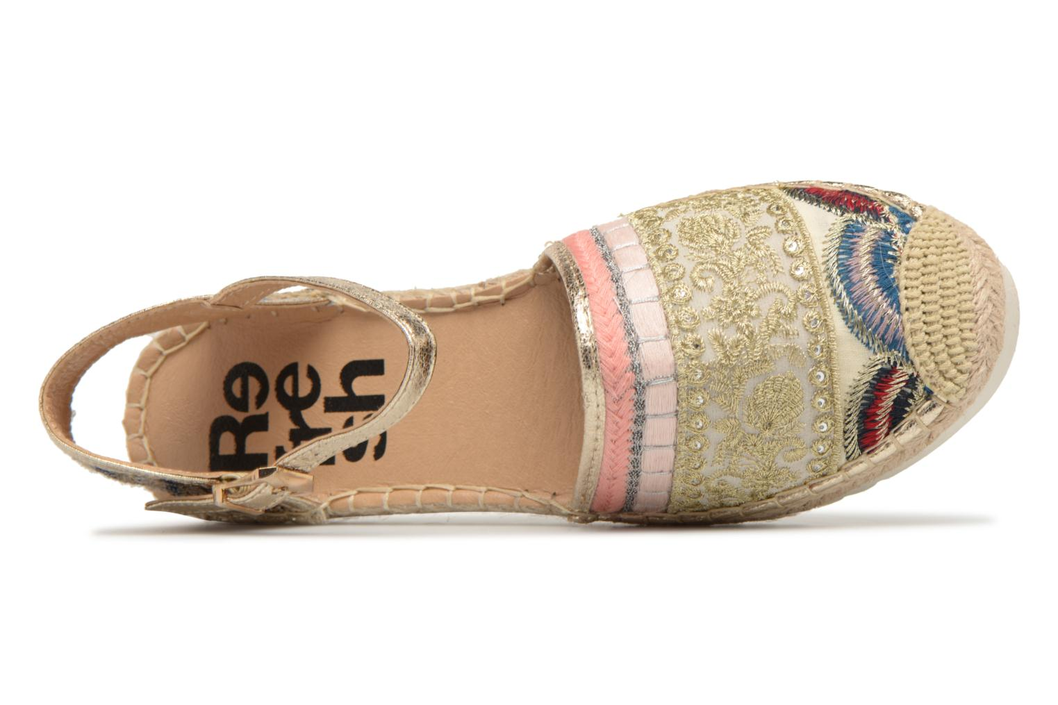 Espadrilles Refresh Tima Bronze and Gold view from the left