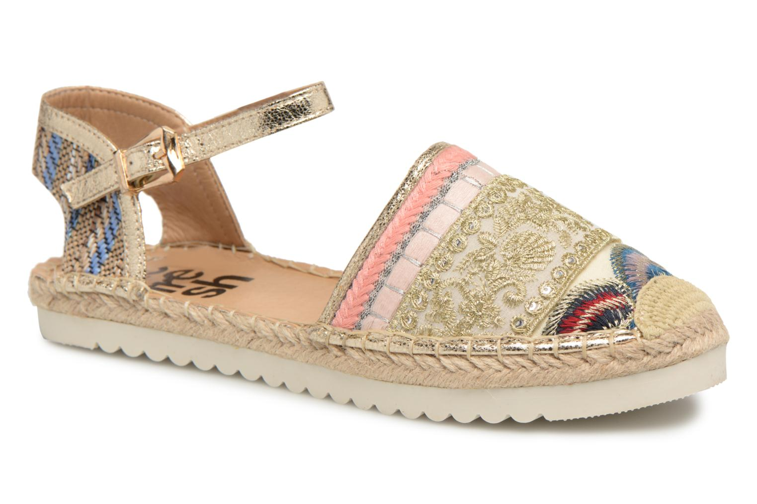 Espadrilles Refresh Tima Bronze and Gold detailed view/ Pair view