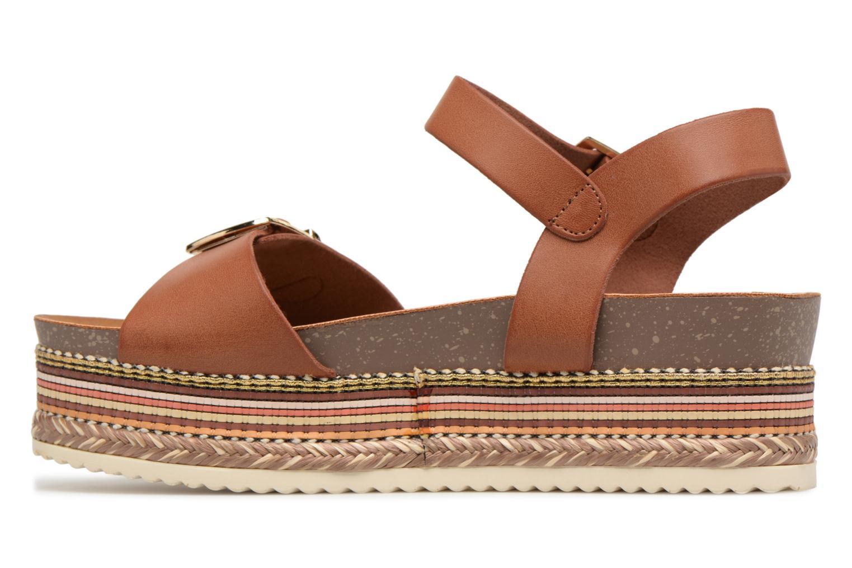 Sandales et nu-pieds Refresh Yelo Marron vue face