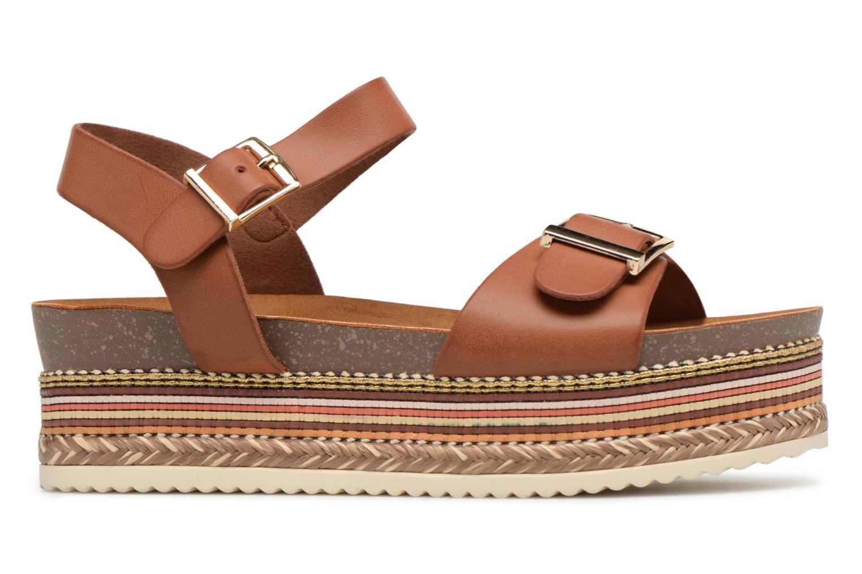 Sandales et nu-pieds Refresh Yelo Marron vue derrière