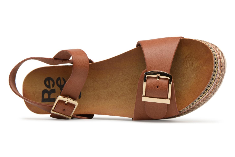 Sandales et nu-pieds Refresh Yelo Marron vue gauche