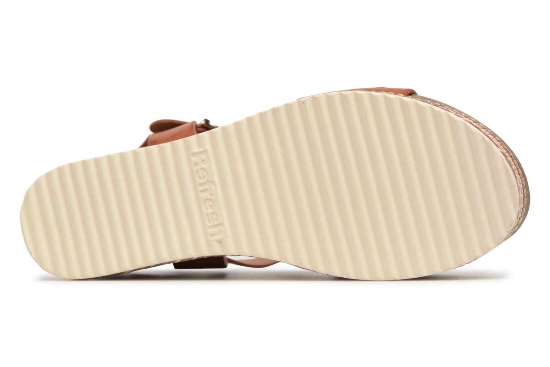Sandales et nu-pieds Refresh Yelo Marron vue haut