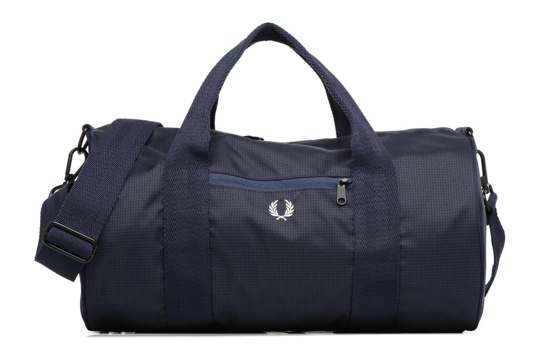 Sporttaschen Fred Perry Checked Twill Barrel bag blau detaillierte ansicht/modell