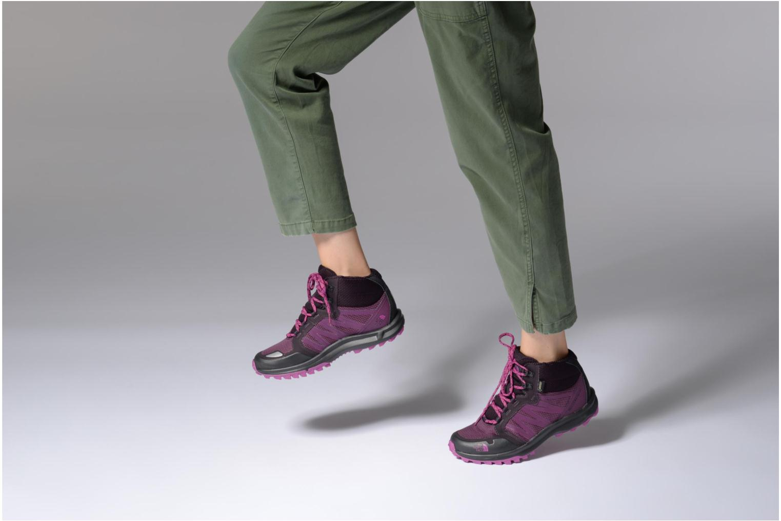 Chaussures de sport The North Face Litewave Faastpack Mid GTX W Violet vue bas / vue portée sac