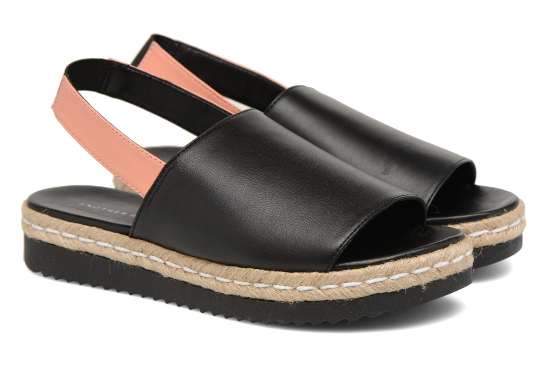 Sandals Another Project Manuzu Black 3/4 view
