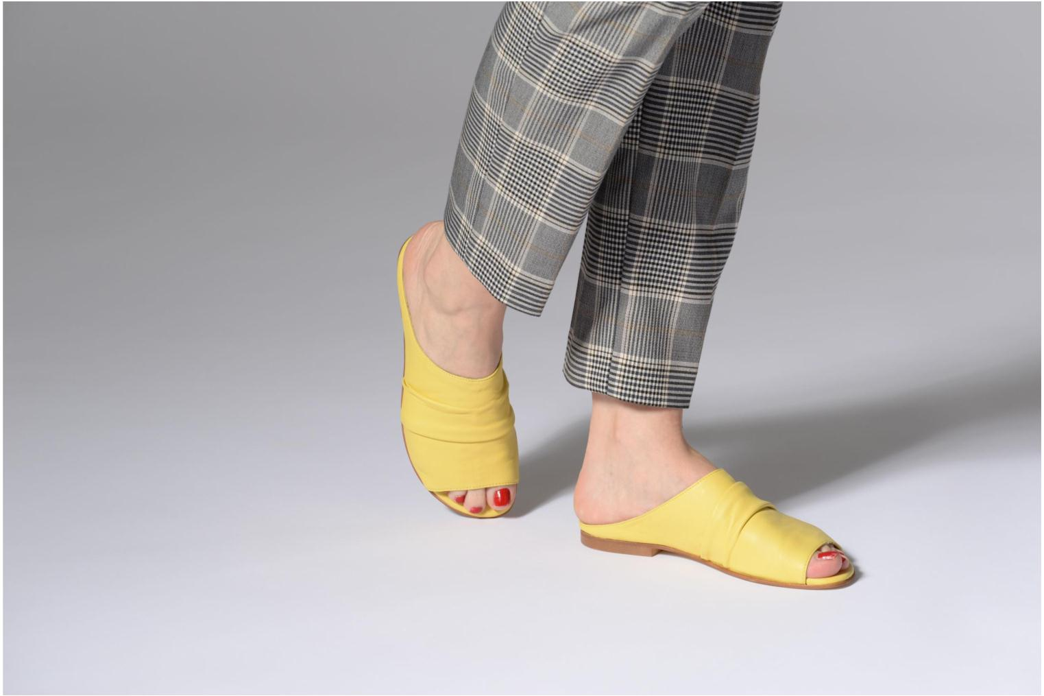 Mules & clogs Another Project Livoza Yellow view from underneath / model view