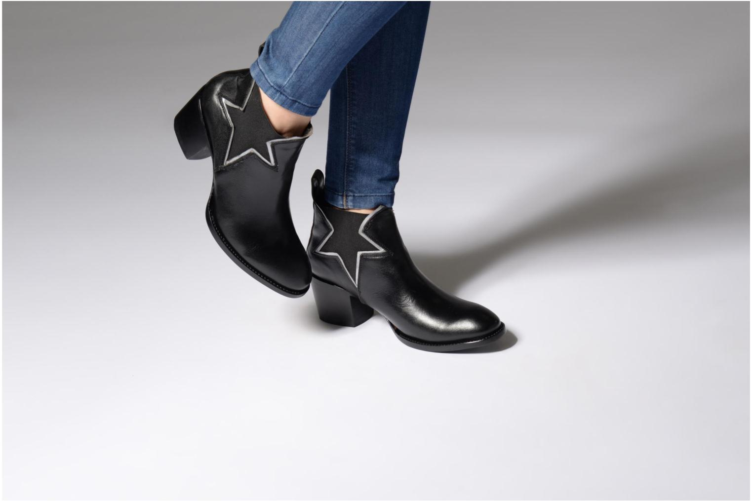 Ankle boots Mexicana Polacco Black view from underneath / model view
