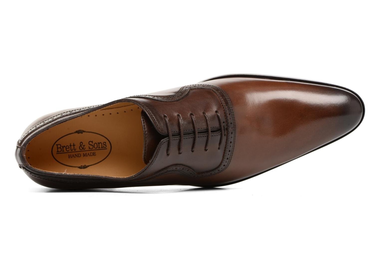 Chaussures à lacets Brett & Sons Will Marron vue gauche
