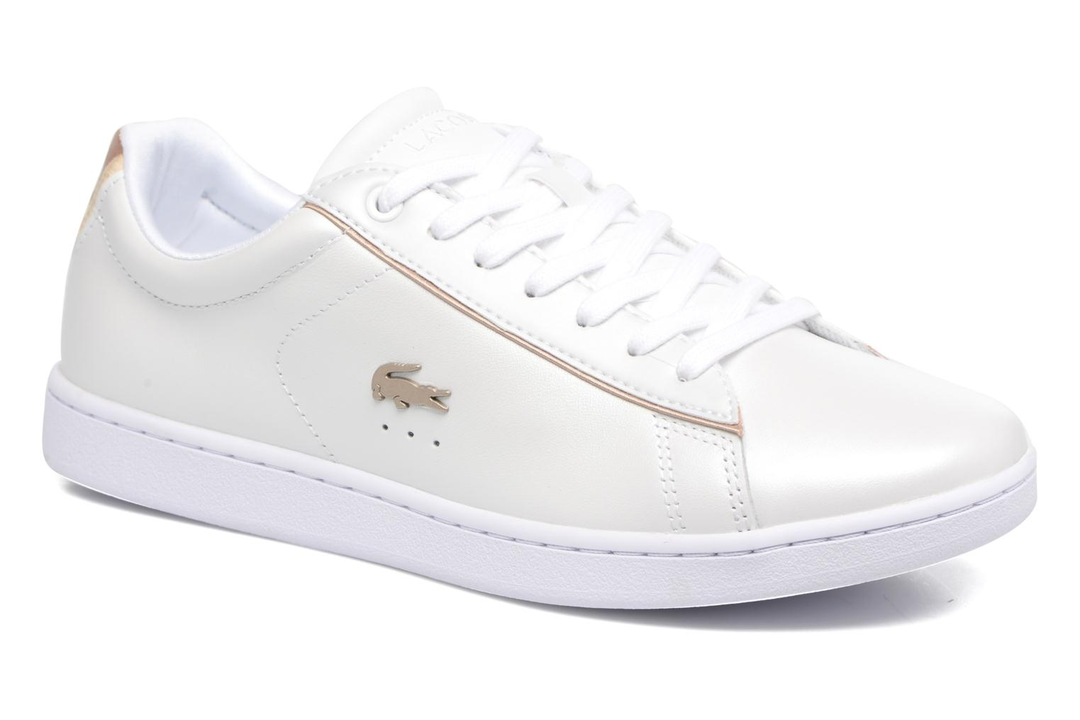 Baskets Lacoste CARNABY EVO 118 6 Blanc vue détail/paire