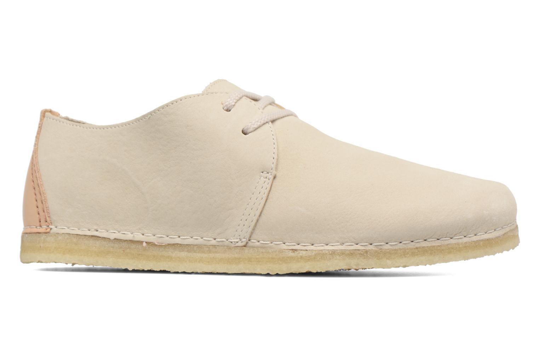 Chaussures à lacets Clarks Originals Ashton W Beige vue derrière