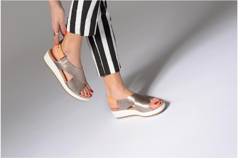Sandales et nu-pieds Pikolinos MYKONOS W1G / 0757CL stone Argent vue bas / vue portée sac