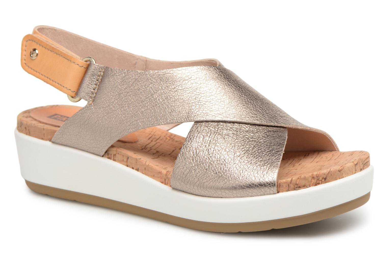 Grandes descuentos últimos zapatos Pikolinos MYKONOS W1G / 0757CL stone (Plateado) - Sandalias Descuento