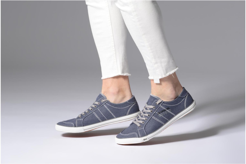 Baskets I Love Shoes Surilo Bleu vue bas / vue portée sac
