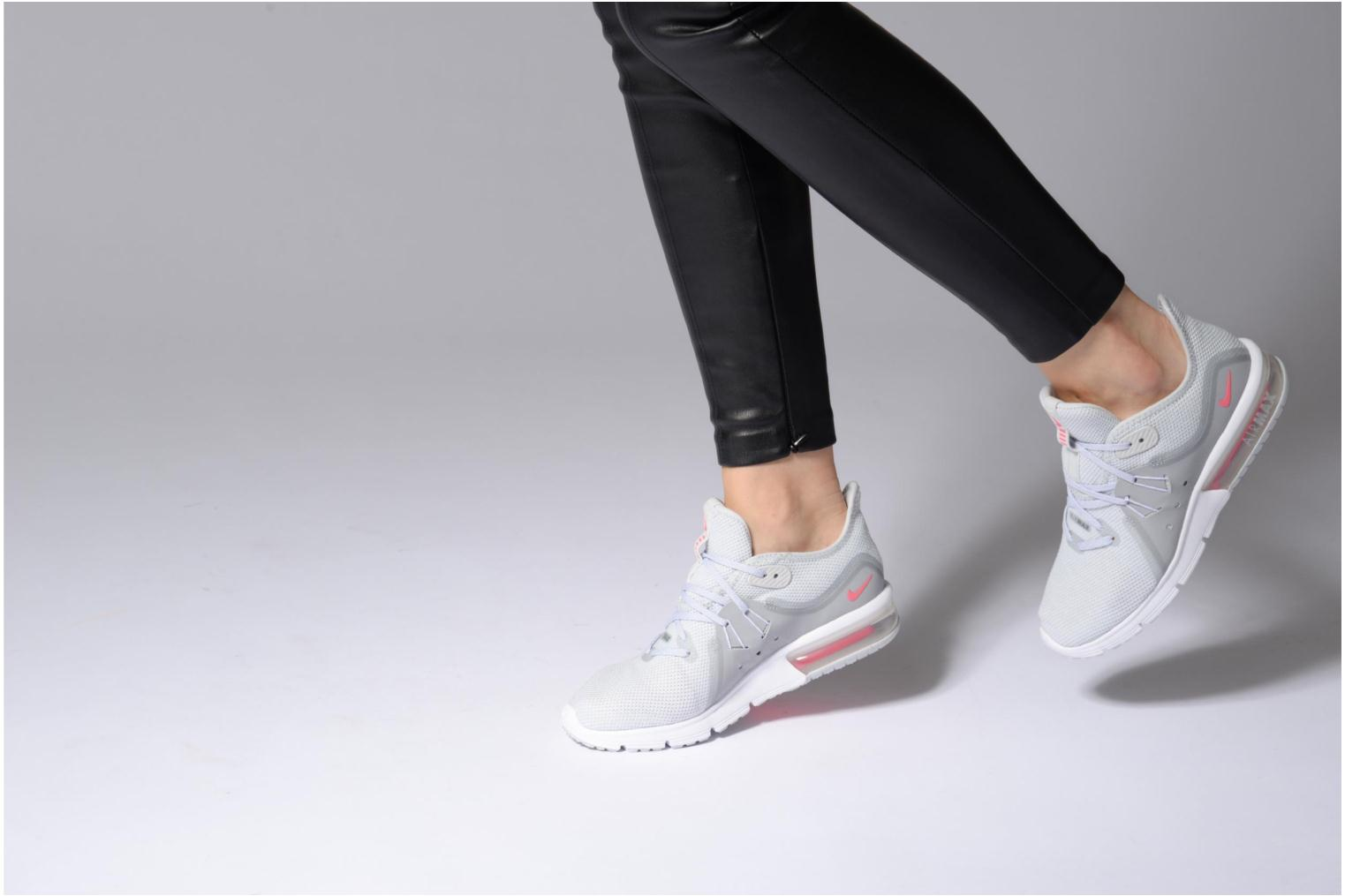 Wmns Nike Air Max Sequent 3 Pure Platinum/Racer Pink-Wolf Grey