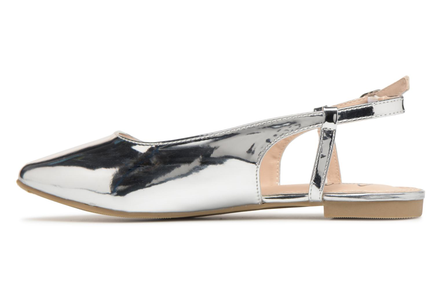 Ballet pumps I Love Shoes Belona Silver front view