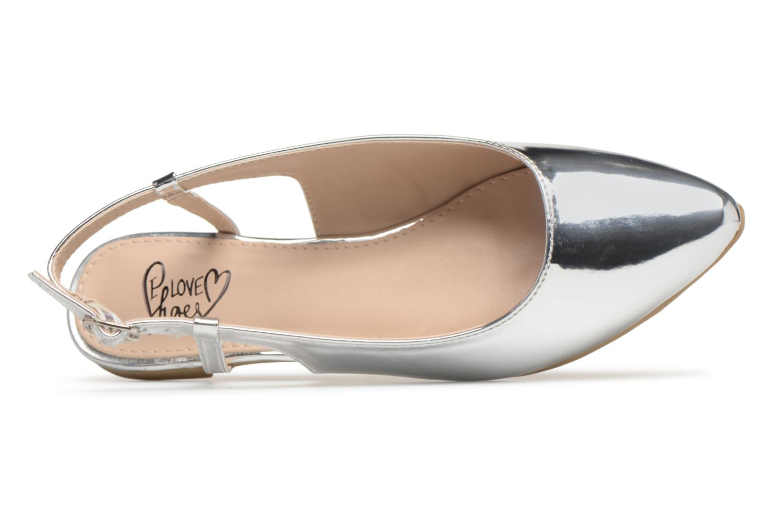 Ballet pumps I Love Shoes Belona Silver view from the left