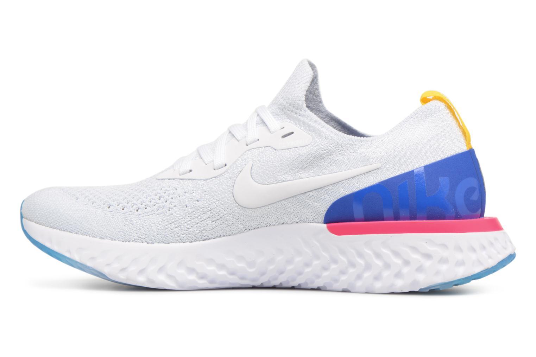 Wmns Nike Epic React Flyknit White/White-Racer Blue-Pink Blast