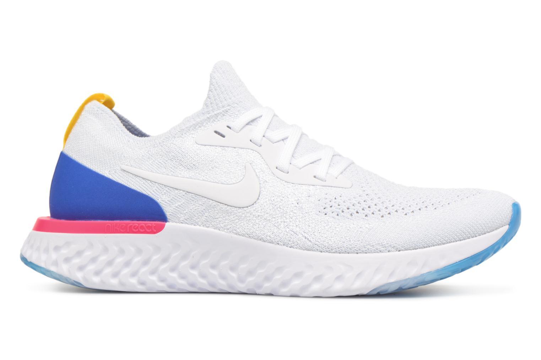 Chaussures de sport Nike Wmns Nike Epic React Flyknit Blanc vue derrière