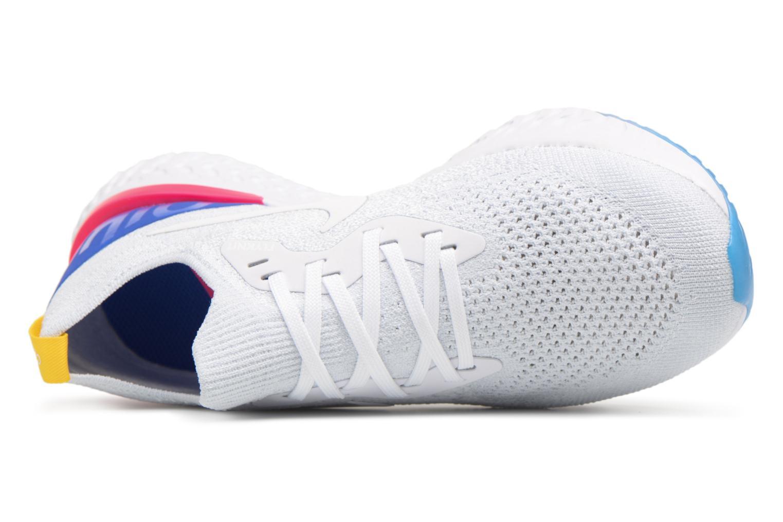 Chaussures de sport Nike Wmns Nike Epic React Flyknit Blanc vue gauche