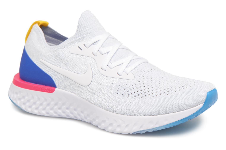 Chaussures de sport Nike Wmns Nike Epic React Flyknit Blanc vue détail/paire