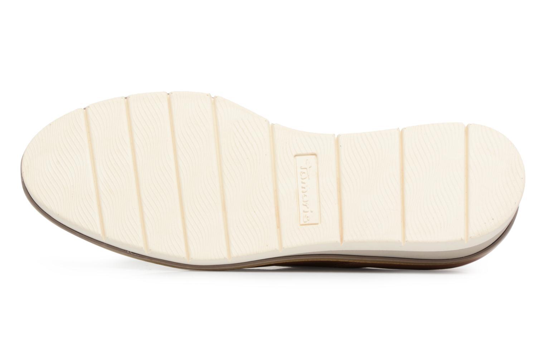 Chaussures à lacets Tamaris Absinthe Beige vue haut