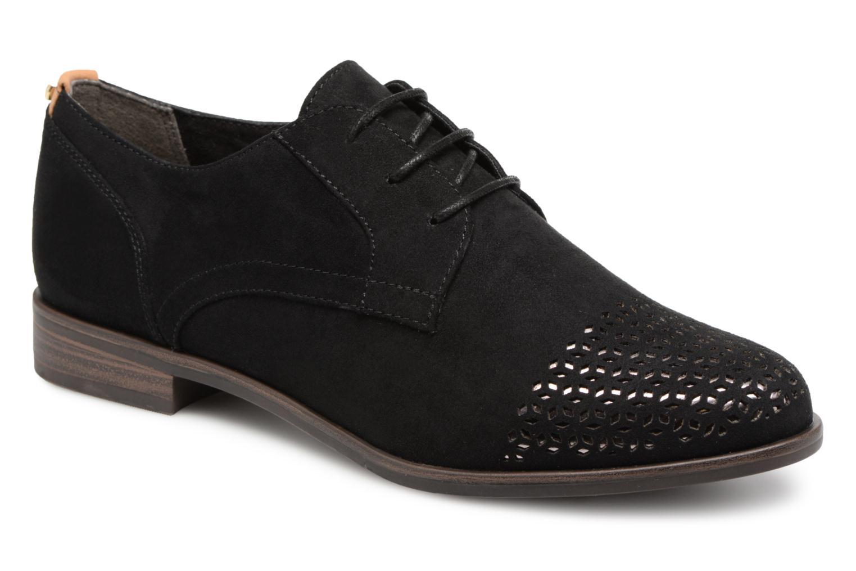 Chaussures à lacets Tamaris Romarin Noir vue détail/paire