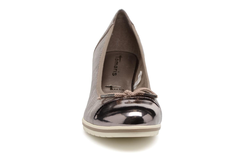 Escarpins Tamaris Moka Argent vue portées chaussures